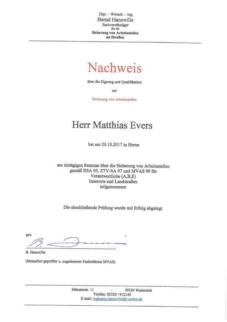 Evers - MVAS 99 Sicherung von Baustellen 101024_1